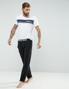 Штаны для дома классического кроя с логотипом BOSS By Hugo Boss - Черный