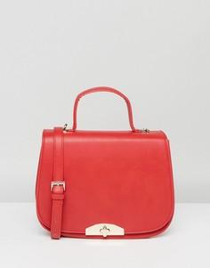 Красная сумка-седло с ручкой и съемным ремешком через плечо Marc B - Красный