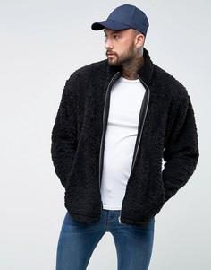 Спортивная оверсайз-куртка из искусственного меха ASOS - Черный