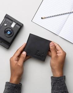 Кожаный складывающийся кошелек с логотипом Levis - Черный Levis®