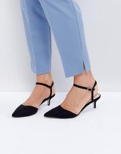 Туфли на каблуке-рюмочке Office Mitten - Черный