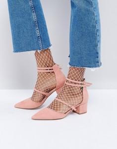 Туфли на каблуке с заостренным носком Office Mae - Розовый