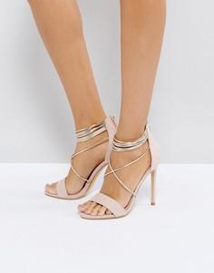Светло-розовые босоножки на каблуке Office Hollywood - Розовый