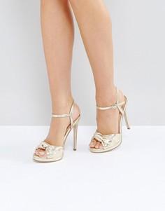 Золотистые сандалии на платформе Office Hold Tight - Золотой