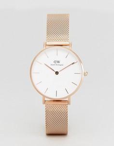 Золотисто-розовые часы с браслетом Daniel Wellington DW00100163 - Золотой