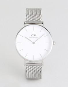 Серебристые часы с сетчатым ремешком Daniel Wellington DW00100164 - Серебряный