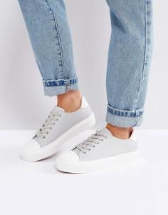 Кеды со вставкой на носке Blink - Серый