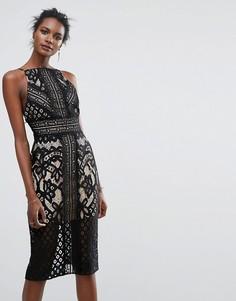Кружевное платье миди Keepsake - Черный