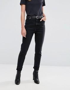 Черные выбеленные джинсы в винтажном стиле с завышенной талией Cheap Monday - Черный