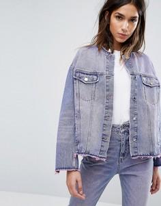 Розовая выбеленная джинсовая куртка Cheap Monday - Розовый