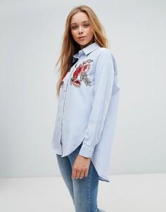 Рубашка с цветочной вышивкой Parisian - Синий