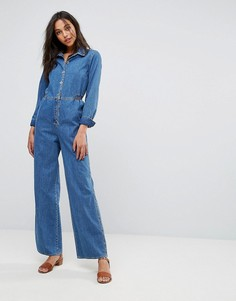 Джинсовый комбинезон с широкими штанинами M.i.h Jeans - Синий