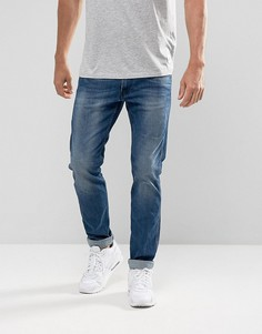Выбеленные эластичные джинсы слим Replay Anbass - Синий