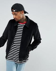 Черная вельветовая куртка Харрингтон ASOS - Черный
