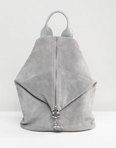 Замшевый рюкзак с карабинным замком ASOS - Серый