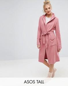Трикотажный халат ASOS TALL - Серый