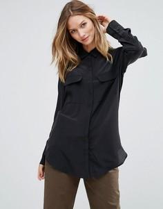 Шелковая рубашка Gestuz Vega - Черный