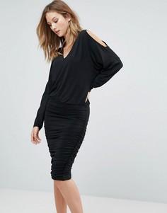 Свободное платье с разрезами на рукавах Gestuz Penn - Черный