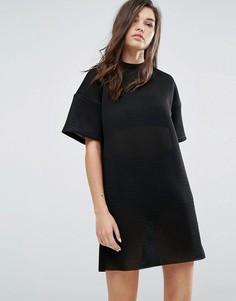 Сетчатое платье-футболка Uncivilised - Черный