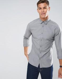 Фактурная хлопковая рубашка классического кроя Selected Homme - Зеленый