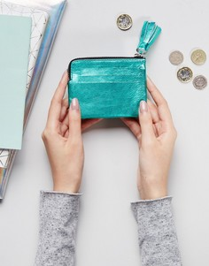 Кожаный кошелек для монет с кисточкой ASOS - Розовый