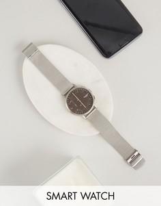 Гибридные смартчасы с сетчатым браслетом Skagen SKT1113 - Серебряный