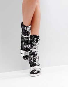 Носки с серебристыми пайетками ASOS - Серебряный