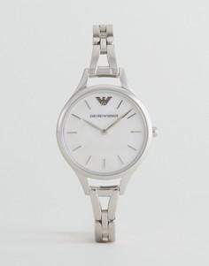 Серебристые наручные часы Emporio Armani AR11054 - Серебряный