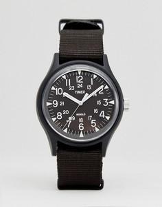 Черные часы из алюминия с нейлоновым ремешком Timex MK1 - Черный