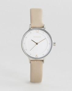 Часы с серым кожаным ремешком Skagen SKW2648 Anita - Серый