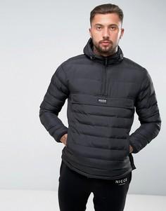 Черная дутая куртка с капюшоном Nicce London - Черный