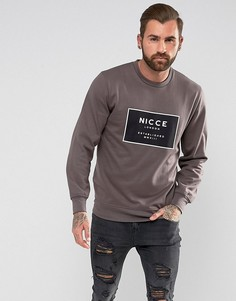 Свитшот с логотипом Nicce London - Серый