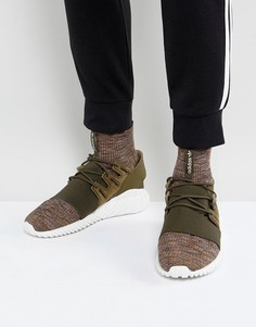 Зеленые кроссовки adidas Originals Tubular Doom Primeknit BY3551 - Зеленый