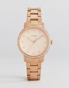 Наручные часы цвета розового золота Fossil ES4288 - Золотой