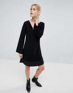 Платье с длинными расклешенными рукавами Pepe Jeans Janet - Черный