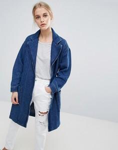 Джинсовая куртка-кимоно с запахом Pepe Jeans Kimmie - Синий
