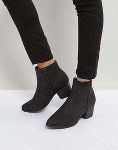 Ботинки на низком каблуке Qupid - Черный