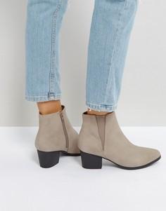 Ботинки на низком каблуке Qupid - Бежевый