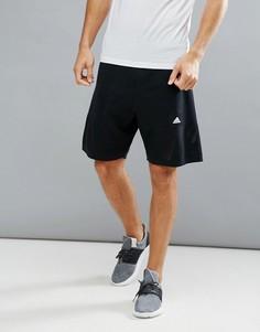 Черные трикотажные спортивные шорты adidas B46997 - Черный