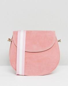 Розовая сумка из искусственной замши Glamorous - Розовый