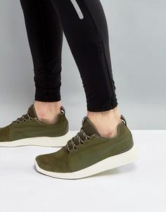 Кроссовки цвета хаки Puma Running ST EVO v2 36374002 - Зеленый