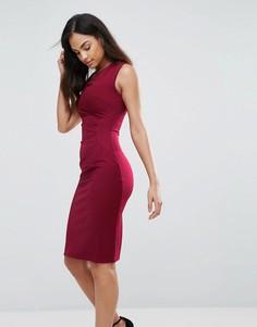 Облегающее платье миди Jessica Wright - Красный