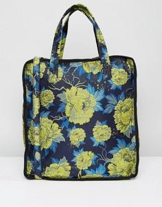 Пляжная сумка с цветочным принтом ASOS - Мульти