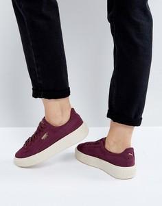 Замшевые кроссовки на платформе в крапинку Puma - Красный