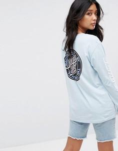 Лонгслив с принтом логотипа на спине Santa Cruz - Синий