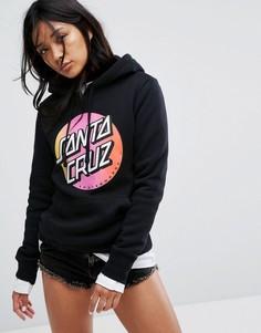 Худи с выцветшим логотипом Santa Cruz - Черный