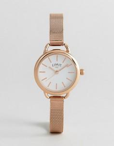 Часы с сетчатым браслетом и розово-золотистым покрытием Limit эксклюзивно для ASOS - Золотой