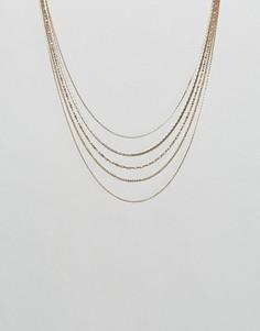 4-ярусное ожерелье Nylon - Золотой