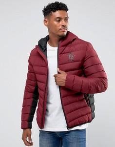 Бордовая дутая куртка Gym King - Красный