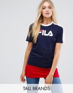 Длинная футболка колор блок с логотипом Fila Tall - Мульти